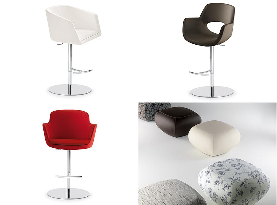 PRO stools and poufs / PRO jakkarat ja rahit